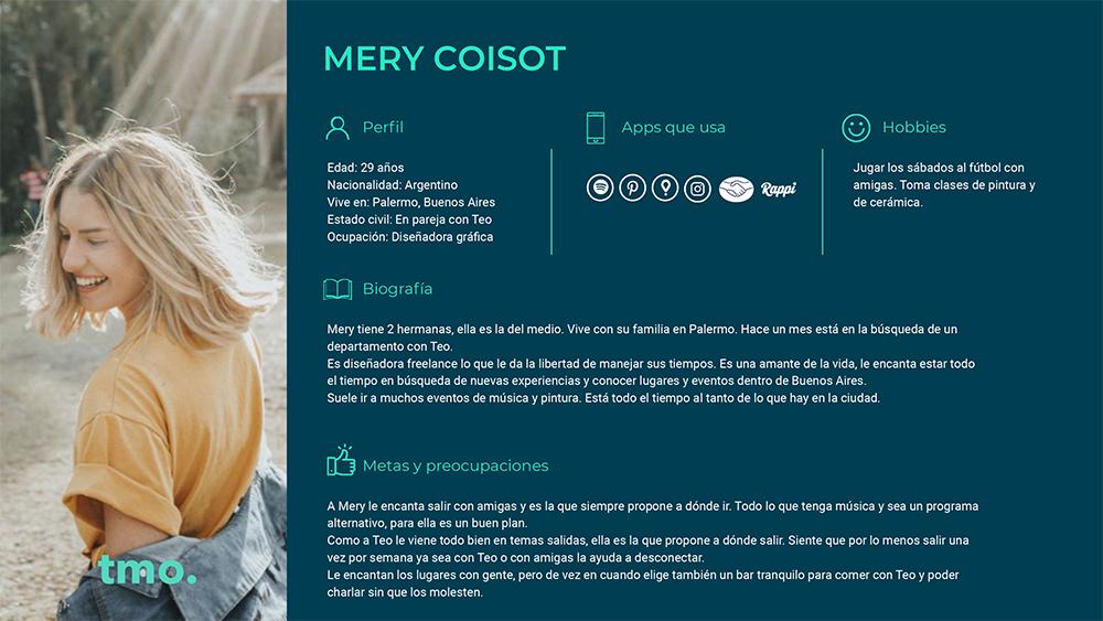 User Persona - María Coissot