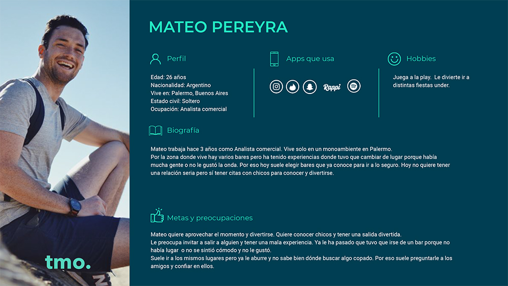 User Persona - Mateo Pereyra